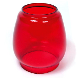 Dietz No. 8 Air Pilot Annealed Red Glass New Production Replacement Globe $32.95