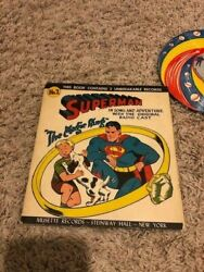 Superman Comic Book 1947 Vintage with 2 unbreakable records $40.00