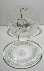 2 VINTAGE WATERFORD CRYSTAL COLLEEN 8quot; LUNCHEON PLATES MADE IN IRELAND $49.99