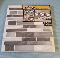 Room Decor Decorative Wall Tiles Self Adhesive Sticky Tiles 10 Sheets 12quot;x12quot; $40.00
