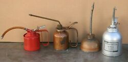 Vintage Oil Cans Pump Oilers Lot Of 4 Eagle amp; Others Lot #3 $64.99
