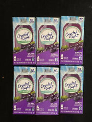 **6** Boxes Crystal Light GRAPE Drink Mix 10 on the go packets $16.99