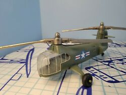 Hubley Kiddie Toy Helicopter #483 Army Green $135.95