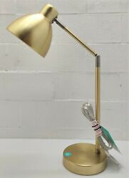 Desk lamp brass finish metal shade touch on off 26quot; max height Free Shipping $26.49