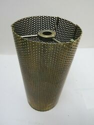 Vintage LAMP LIGHT METAL CYLINDER TUBE MESH DIFFUSER HEAVY 6.1 2quot; by 3quot; $25.00