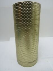 Vintage LAMP LIGHT METAL CYLINDER TUBE MESH DIFFUSER LIGHT 6.1 2quot; by 2.7 8quot; $25.00