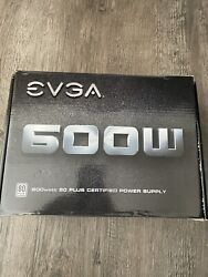 EVGA 600w Power Supply 80 Plus. With power Cable $20.00