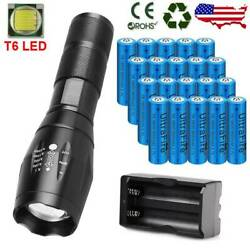 Zoomable LED Powerful Zoom Focus Flashlight Batteries For Outdoor Torch Lights $17.19