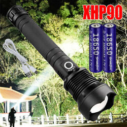 990000LM XHP50 70 90 LED Zoom USB Rechargeable Flashlight Focus Bright Torch RO $14.19