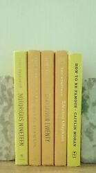 Lot of 5 YELLOW Books for Staging Decorative Modern Library Shelf Display Prop $19.99