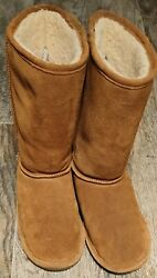Sz 9 BEAR PAW EMMA BROWN TALL BOOTS SUEDE PREOWNED LITTLE SIGN OF ANY WEAR EXL C $43.00