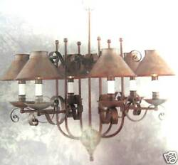 NIB MURRAY FEISS F1582 6WP CHANDELIER REVERE COLLECTION WEATHERED PATINA $199.00