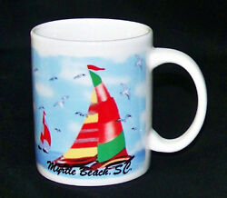 Myrtle Beach South Carolina Sail Boats Coffee Mug Cup