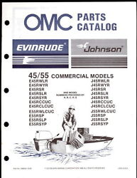 1987 JOHNSON EVINRUDE 45 55 COMMERCIAL PARTS MANUAL
