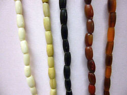 Buffalo Bone  Horn Hairpipe Beads  All sizes! Red Yellow White Black Antiqued
