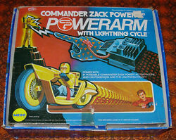 MEGO COMMANDER ZACK POWER POWER ARM WITH LIGHTNING CYCLE BOXED 1975 $100.00