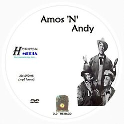 AMOS 'N ANDY - 304 Shows Old Time Radio In MP3 Format OTR On 1 DVD