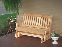 Outdoor 6 Foot Royal English Garden Porch Glider *8 Stain Options* Made in USA