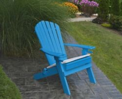 Poly Folding & Reclining Adirondack Chair *BLUE COLOR* Amish Made USA