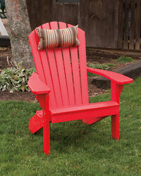Poly Lumber Wood FOLDING and RECLINING Adirondack Chair *BRIGHT RED* Made in USA