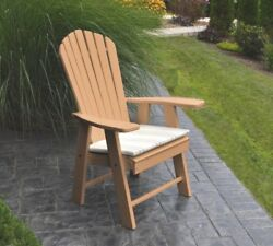 Poly UPRIGHT ADIRONDACK Chair *OFFERED IN CEDAR COLOR* Amish Made in USA