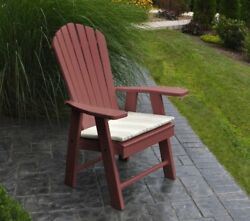 Poly UPRIGHT ADIRONDACK Chair *OFFERED IN CHERRY WOOD COLOR* Made in USA