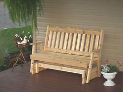 Outdoor Cedar 6 Ft Royal English Porch Glider *8 STAIN COLORS* Made in USA