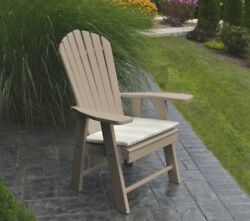 *Poly Furniture Wood* UPRIGHT ADIRONDACK CHAIR *WEATHERED WOOD COLOR*