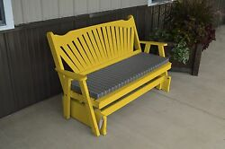 Classic Outdoor 6 Foot Fanback Porch Glider *9 Paint Colors* 6 ft Glider