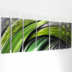 Modern Contemporary Abstract Metal Wall Art Sculpture Green Painting Large Decor $255.00
