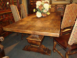 Olde World Rustic Dining Table 96