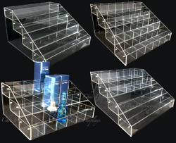 Acrylic Display Stands Makeup Organizer Multi Tier Countertop Bin 234 tiers $49.89