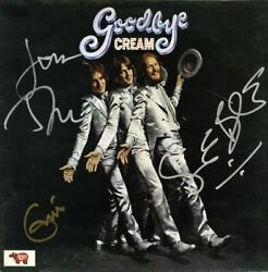 THE CREAM Signed Vinyl LP GOODBYE by ERIC CLAPTON GINGER BAKER JACK BRUCE RARE!!