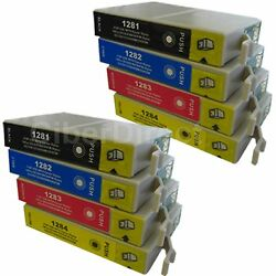 8 CiberDirect Replacements for Epson T1285 Printer Ink Cartridges - VAT Invoice $14.10