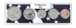 2011 Birth Year Coin Set in American Flag Holder - 5 Coin Set