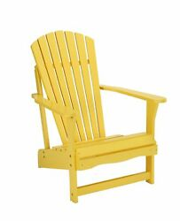 SOLID ACACIA  TEAK ADIRONDACK CHAIR - *YELLOW* PAINTED