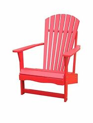 SOLID ACACIA  TEAK ADIRONDACK CHAIR - *RED* PAINTED
