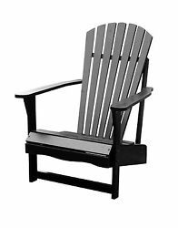 SOLID ACACIA  TEAK ADIRONDACK CHAIR - *BLACK* PAINTED