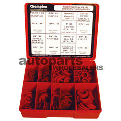 CHAMPION DRAIN  SUMP PLUG RED FIBRE  WASHERS ASSORTMENT KIT (143 Pieces) $94.64