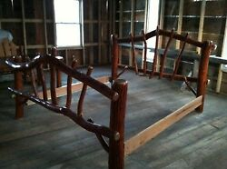 Sassafras Rustic Log QUEEN  Bed Amish Made in USA