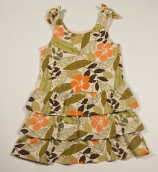 GYMBOREE GIRLS SIZE 5 DRESS SUMMER SAFARI TROPICAL FLOWER FLORAL
