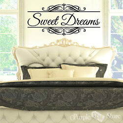 Sweet Dreams Vinyl Art Home Wall Bedroom Quote Decal Sticker Classic Decoration $32.99