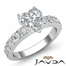 Comforting Heart Diamond Prong Set Engagement Ring GIA H VS2 Platinum 1.47 ct