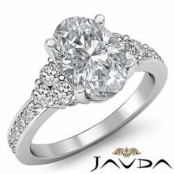Gorgeous Six 6 Stone Oval Diamond Engagement Ring GIA G SI1 Platinum 950 1.5 ct