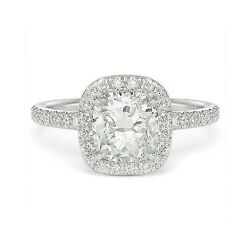 2.19 ctw G VS-2 CUSHION DIAMOND ENGAGEMENT RING 14k