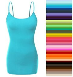 Womens Cami Plus Size Bozzolo Tank Top Long Spaghetti Strap Basic XL 1X 2X 3X $9.95