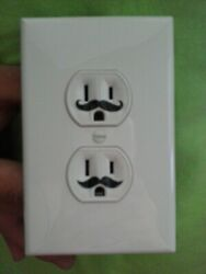 30 1quot; X Small Mustache Vinyl Decal Wall Electric Outlet Funny Sticker Stache B $2.48
