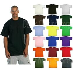 1 NEW PRO CLUB MEN#x27;S BLANK HEAVY WEIGHT CREW NECK SHORT SLEEVE T SHIRT S 10XL $17.70