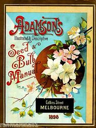 1898 Adamson#x27;s Bulb Vintage Flowers Seed Packet Catalogue Advertisement Poster $9.59
