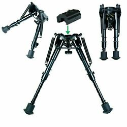 6quot; to 9quot; Adjustable Spring Return Sniper Hunting Rifle Bipod w Rail Adapter $21.95